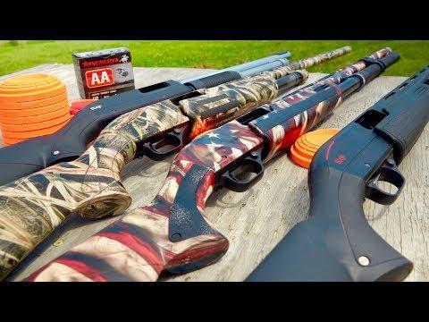 Winchester SXP Pump Shotgun Trick Shots | Combo Shots | Gould Brothers
