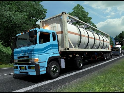 ETS 2 | Mitsubishi Fuso SG 4 x 2 Trailer Logistik Tanker Asam Sulfat 25 Ton Pamanukan - Subang
