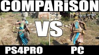 (COMPARISON) For HONOR  ▶ *PS4Pro* VS  *PC*  ▶ FPS (30 VS 60)