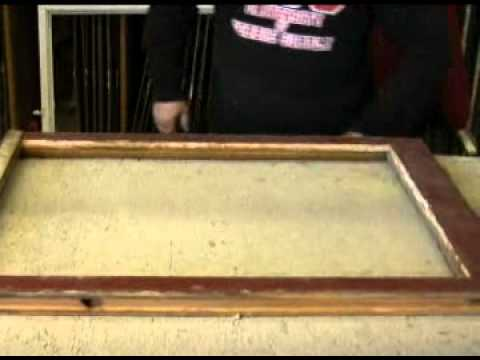 Replacing Glass in a Woodframe