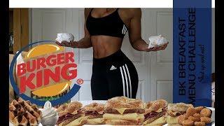 Girl Vs Entire BK breakfast Menu, TWICE!