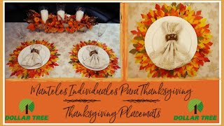 DIY Placemats For Thanksgiving | Easy to Make Placemats for Thanksgiving! All Dollar Tree