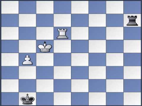 Chess Rook Endgame - Back Rank Defense