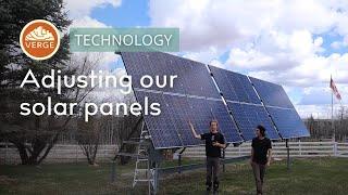 Adjusting our Solar Panels for Maximum Solar Gain