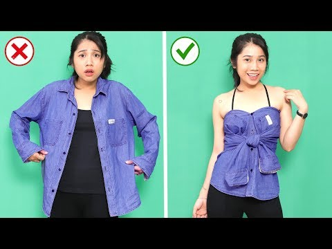 11 Reuse Your Old Clothes and Save Money | Fashion DIY Hacks For Girls