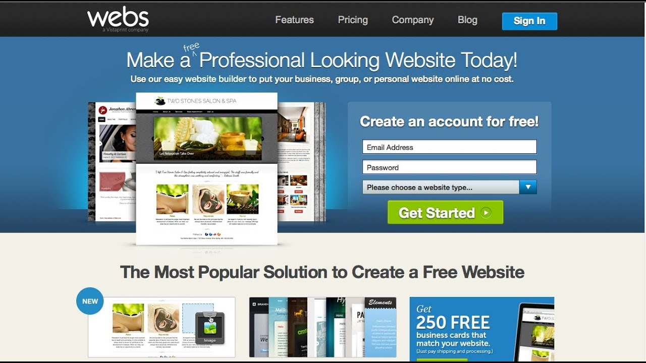 How to build a free website for beginners website design Build easy website