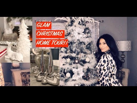 GLAM CHRISTMAS HOME TOUR || GLITZHOME BLANKET || CHRISTMAS 2018