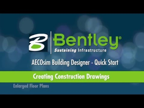AECOsim Building Designer   A15   Creating Construction Documents