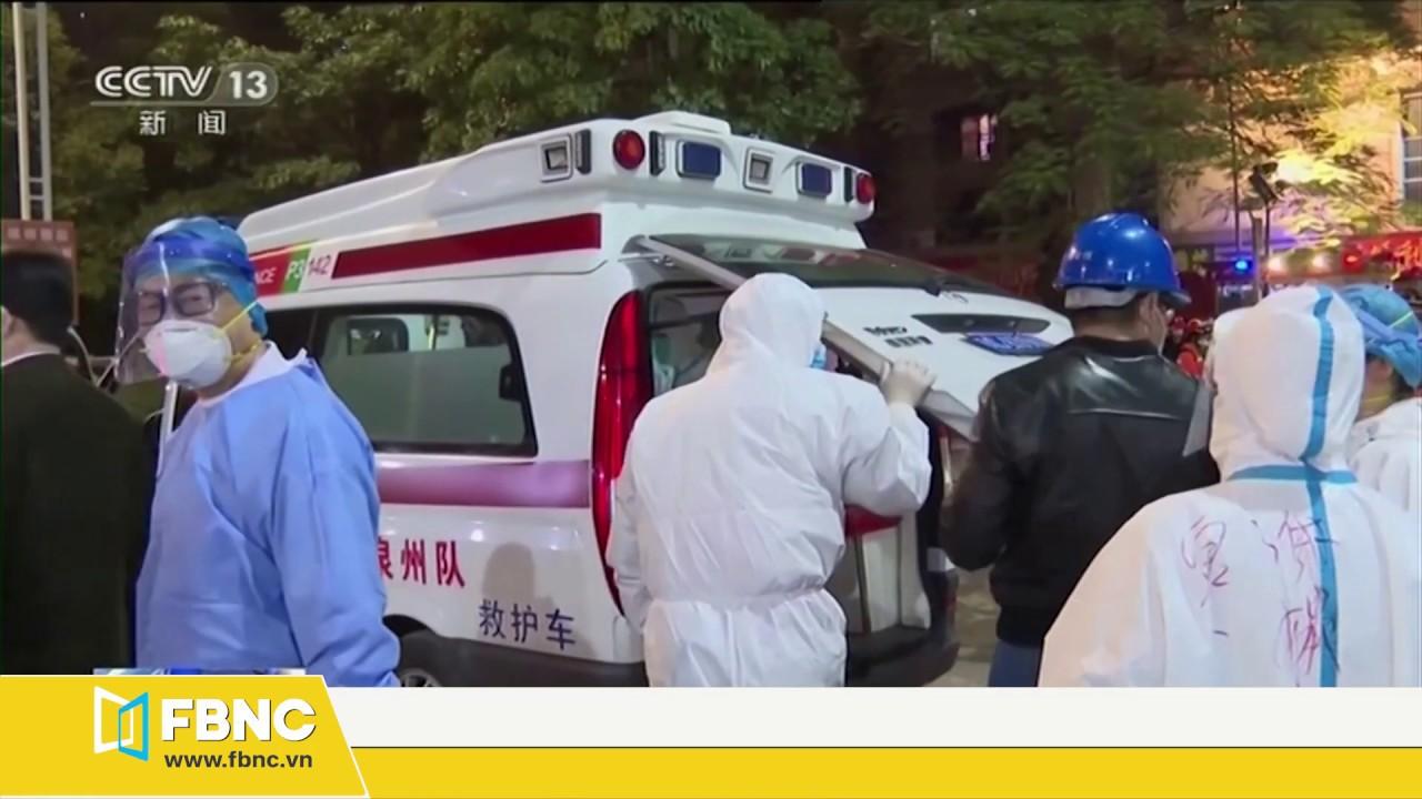 Sập khu cách ly tại Trung Quốc, hàng chục người mắc kẹt   Cập nhật dịch Covid-19