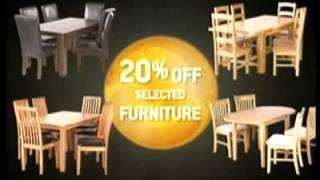 Homebase '20 Per Cent Off Selected Furniture' Tv Ad   10 Sec Advert