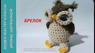 Сова - брелок.  Owl - key ring.   Amigurumi. Crochet.