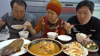 A hearty meal [[jangjorim, bean sprouts cold, biji stew, Grilled Sea Bream]] - Mukbang eating show