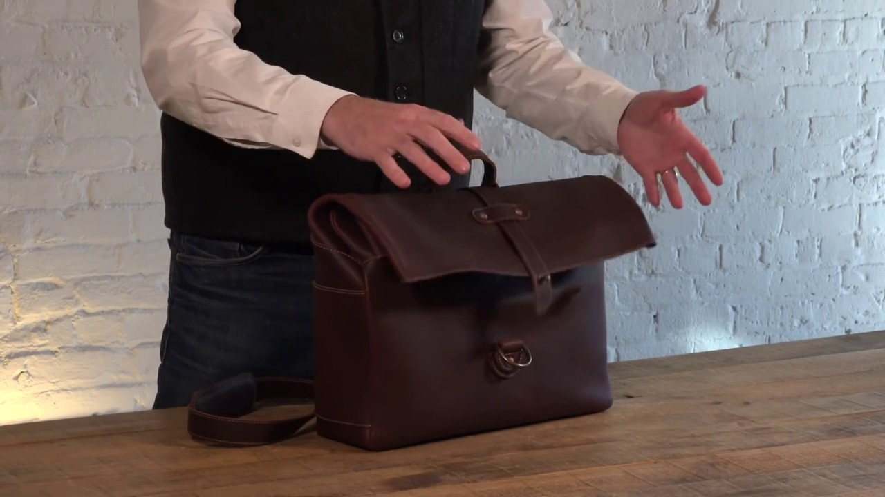 Heritage Rolltop Leather Laptop Satchel Messenger Review by Pad   Quill 549c942845ec2
