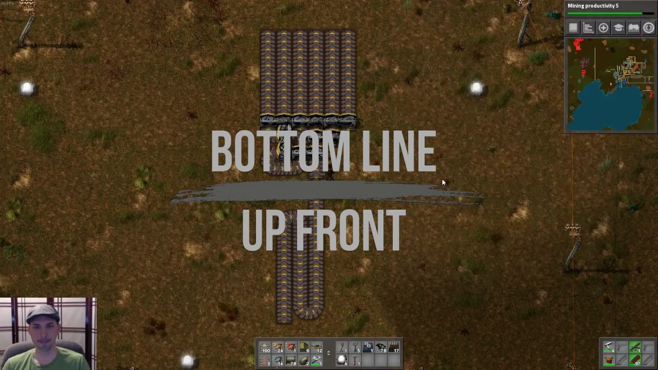Factorio - 1 to 6 belt balanced splitter