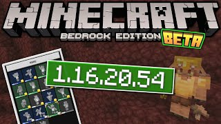 Minecraft Bedrock BETA 1.16.20.54✅ OUT NOW ! Skins + Emotes [ Change Log ] MCPE / Xbox / Windows