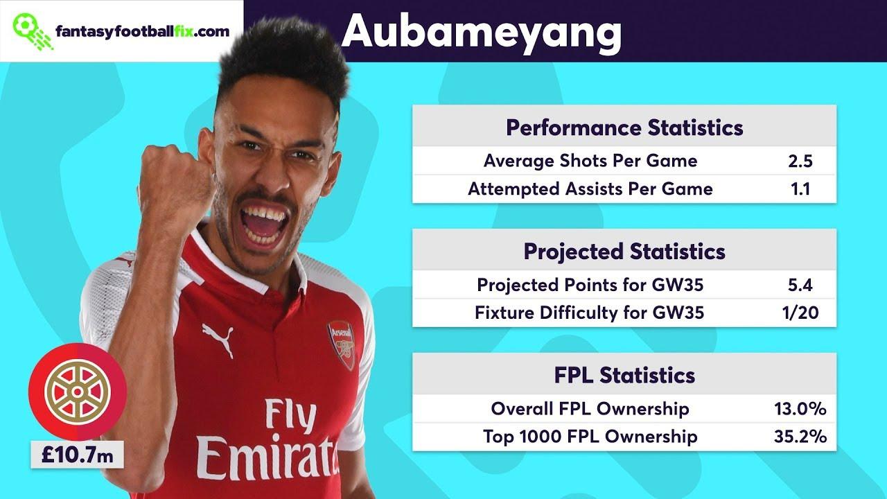 Gameweek 35 Top 5 Fix Player Picks Fantasy Premier League 2017