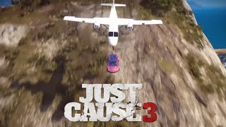 Plane from a Car from a Hillside - Just Cause 3 Stunts