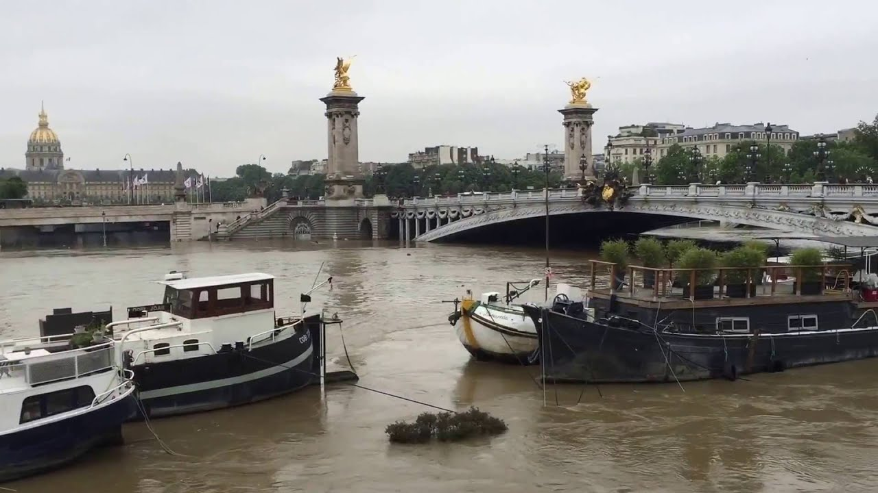 crue de la seine inondations paris 2 juin 2016 youtube. Black Bedroom Furniture Sets. Home Design Ideas