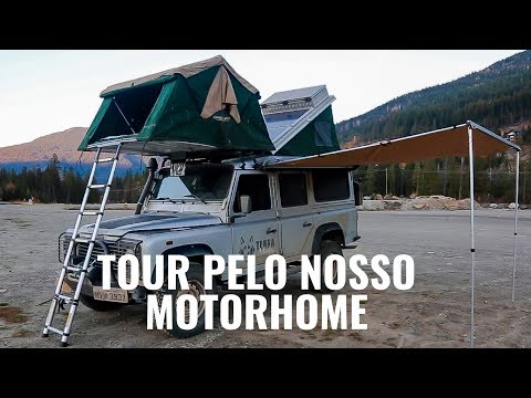 Tour pela nossa casa sobre rodas  I  LAND ROVER DEFENDER MOTORHOME COM TETO MÓVEL