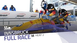 Innsbruck | BMW IBSF World Cup 2020/2021 - 2-Man Bobsleigh Race 2 (Heat 2) | IBSF Official