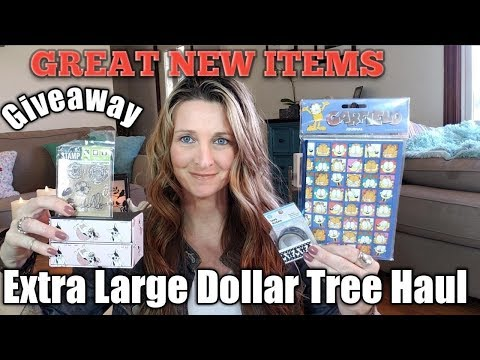 Extra Large Dollar Tree Haul❤NEW Finds❤April 22,2018/Giveaway*BONUS*
