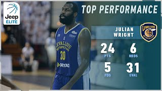 Julian Wright 24PTS, 6REB, 5AST vs Châlons-Reims | Highlights Jeep® ÉLITE