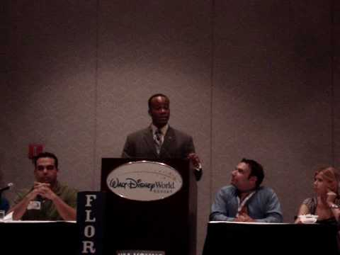 Randy Edwards speaking at the Young Democrats meeting at the Florida Democratic Convention