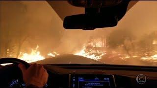 O impressionante incêndio na Califórnia