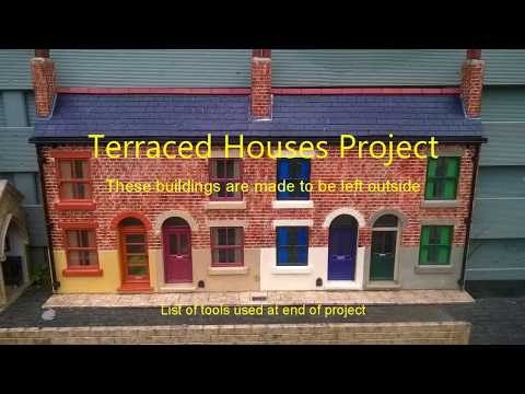 How to build 16mm scale Garden Railway Terraced Houses
