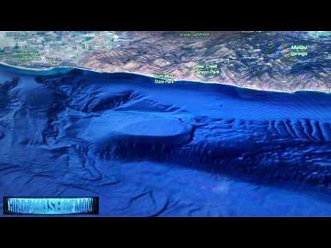 NEW 3-D Alien Mega-Structure Malibu Coast! Major Media Investigation? 8/10/2017