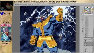 Coloring THANOS while chatting with colorist Marissa Louise