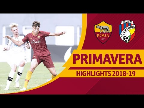 Roma 3-4 Viktoria Plzen, Primavera UEFA YOUTH LEAGUE Highlights 2018-19 thumbnail