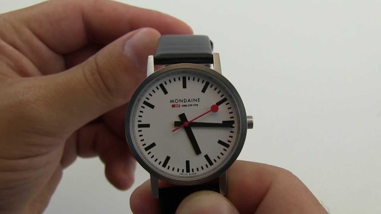 Mondaine Swiss Railways Watch A660 30314 16sbb Youtube