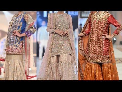 New Beautiful Fancy Designer Sharara Pants 2017 2018 Designs