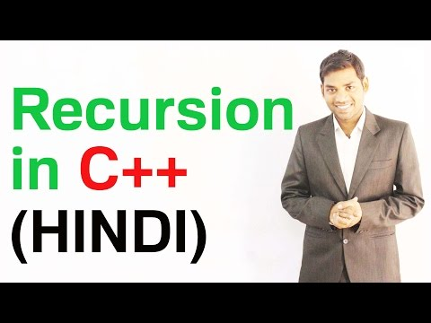 Recursion in C++ with Example (HINDI)