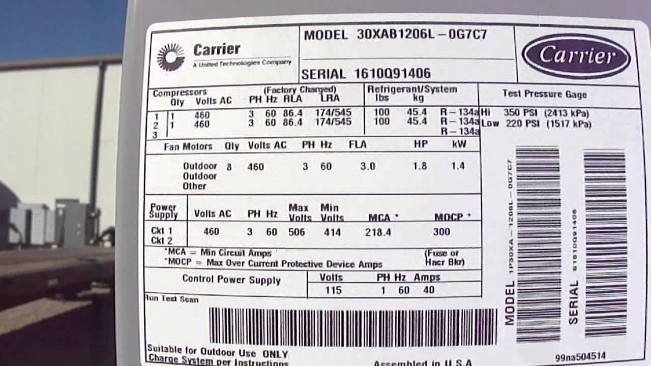Carrier 30rb Wiring Diagram 98 Explorer Radio 2010 120 Ton Air Cooled Chiller 30xab120 2 Youtube