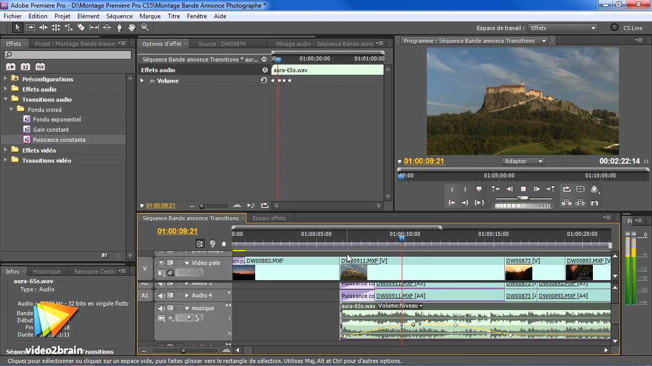how to add fade on track in adobe premiere