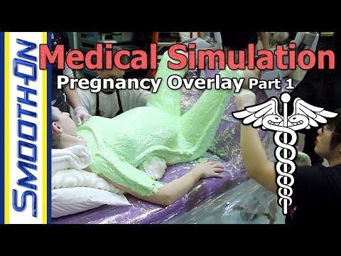 Make Your Own Pregnancy Overlay Using Silicone Rubber And Foam - Part 1