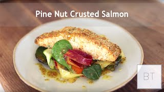 Pine Nut Crusted Salmon