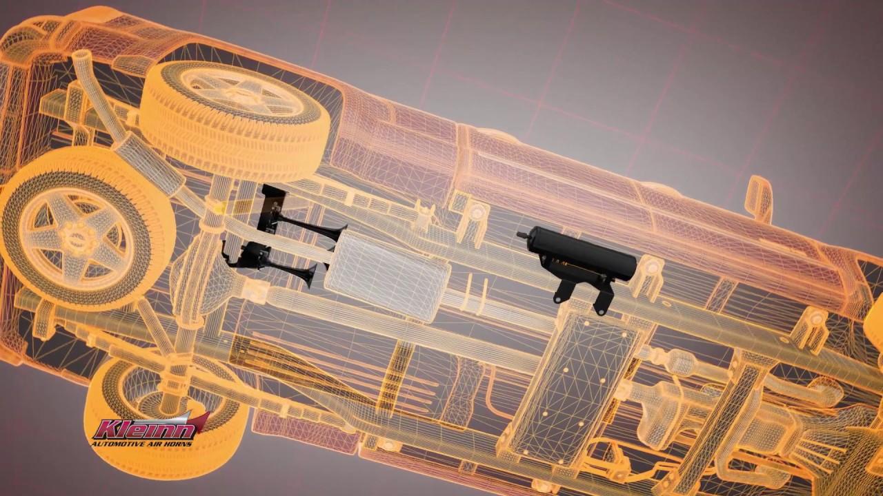 Gm Truck Air Horn System For 2014-2015 Gm 2500 Hd  U0026 3500 Hd Trucks