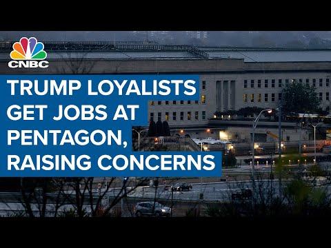 Top Trump loyalists get top jobs at Pentagon, raising national security concerns