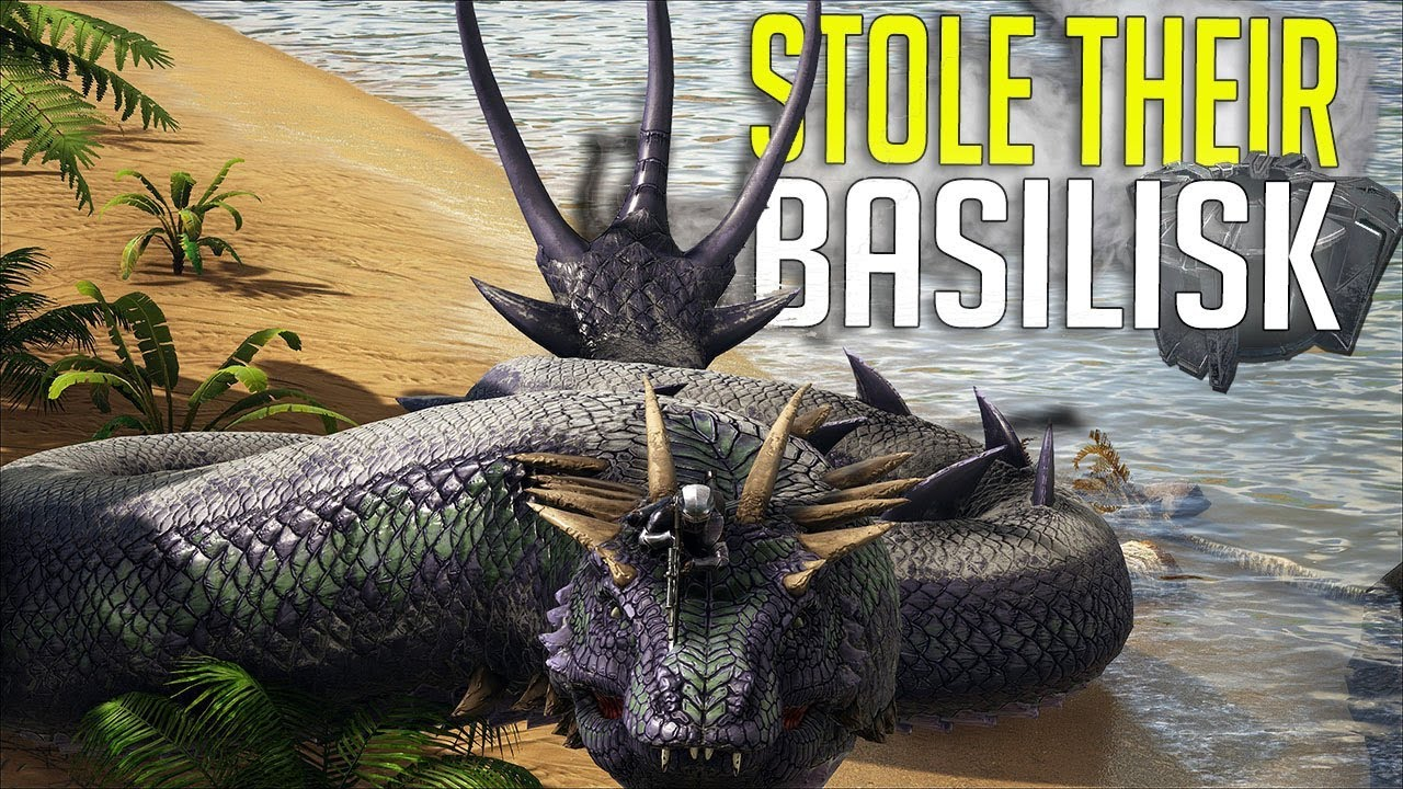 USING THE ENEMIES CRYOPOD BASILISK!! RAID! OFFICAL SMALL TRIBES PVP S3 Ep12    ARK: Survival Evolved