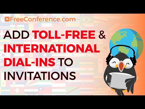 How To Add Toll-Free & International Dial-Ins to Invitations