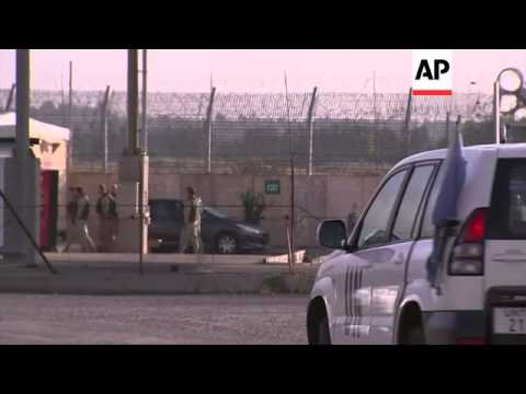 Activity at border crossing as UN awaits return of freed peacekeepers