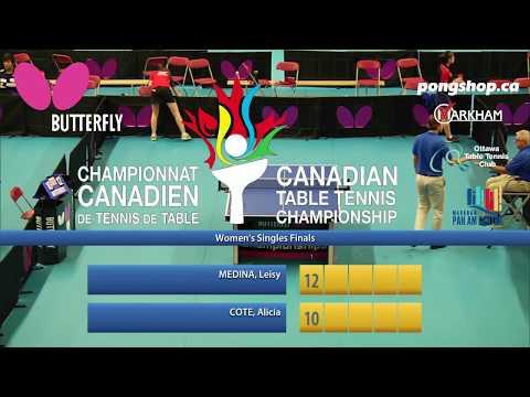 2017 Butterfly Canadian Championships - Women's Final
