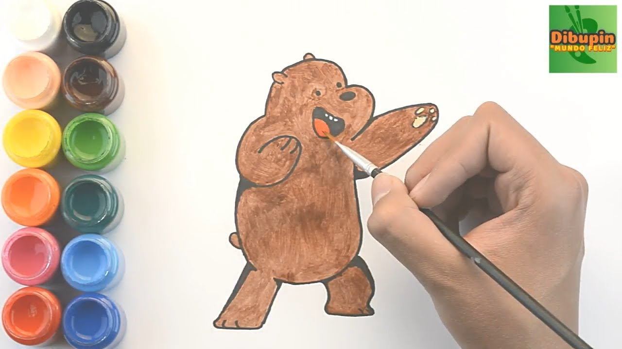 Como Dibujar Y Colorear A Oso Pardo De Osos Escandalososhow To Draw And Color Grizzly Of We Bare B