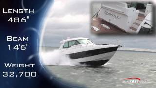 Cruisers Yachts 48 Cantius 2011 Motoryacht  Peformance Test  - By BoatTest.Com