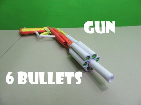 How to make a cardboard gun that shoots paper bullets easy