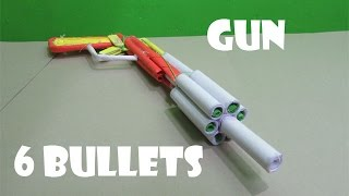 how to make a poweful paper gun that shoots 6 paper bullets easy tutorials