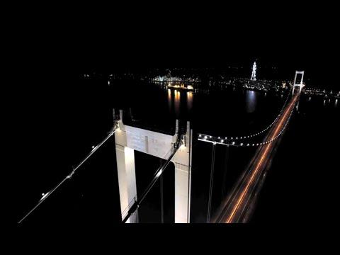 室蘭 白鳥大橋 夜景 by Channel Suga on YouTube